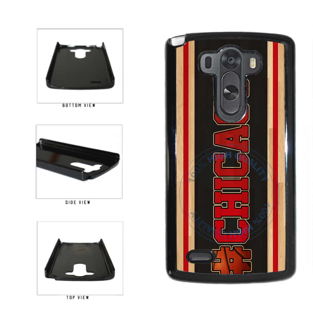 Basketball Team Hashtag Chicago #Chicago Plastic Phone Case Back Cover For LG G3 D855 includes BleuReign(TM) Cloth and Warranty Label