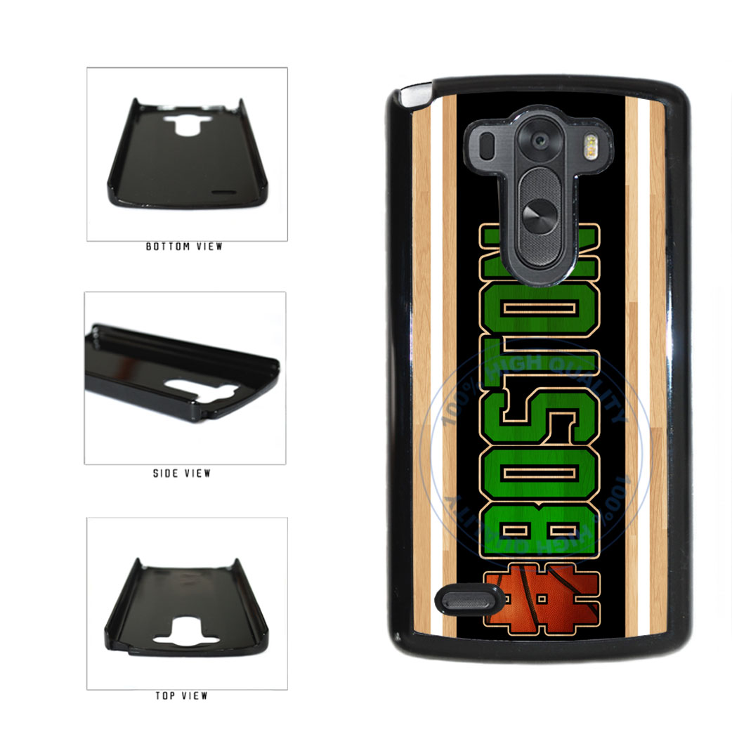 Basketball Team Hashtag Boston #Boston Plastic Phone Case Back Cover For LG G3 D855 includes BleuReign(TM) Cloth and Warranty Label