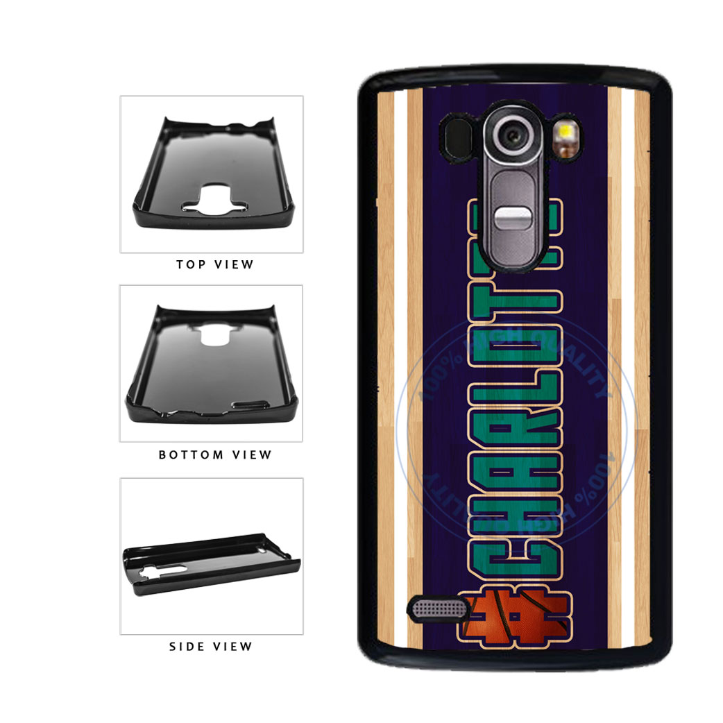 Basketball Team Hashtag Charlotte #Charlotte Plastic Phone Case Back Cover For LG G4 H815 includes BleuReign(TM) Cloth and Warranty Label