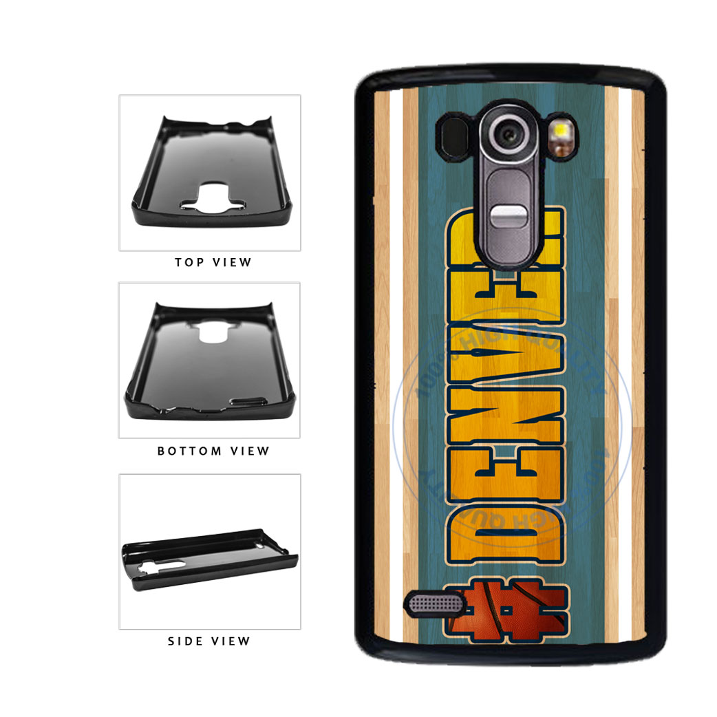 Basketball Team Hashtag Denver #Denver Plastic Phone Case Back Cover For LG G4 H815 includes BleuReign(TM) Cloth and Warranty Label
