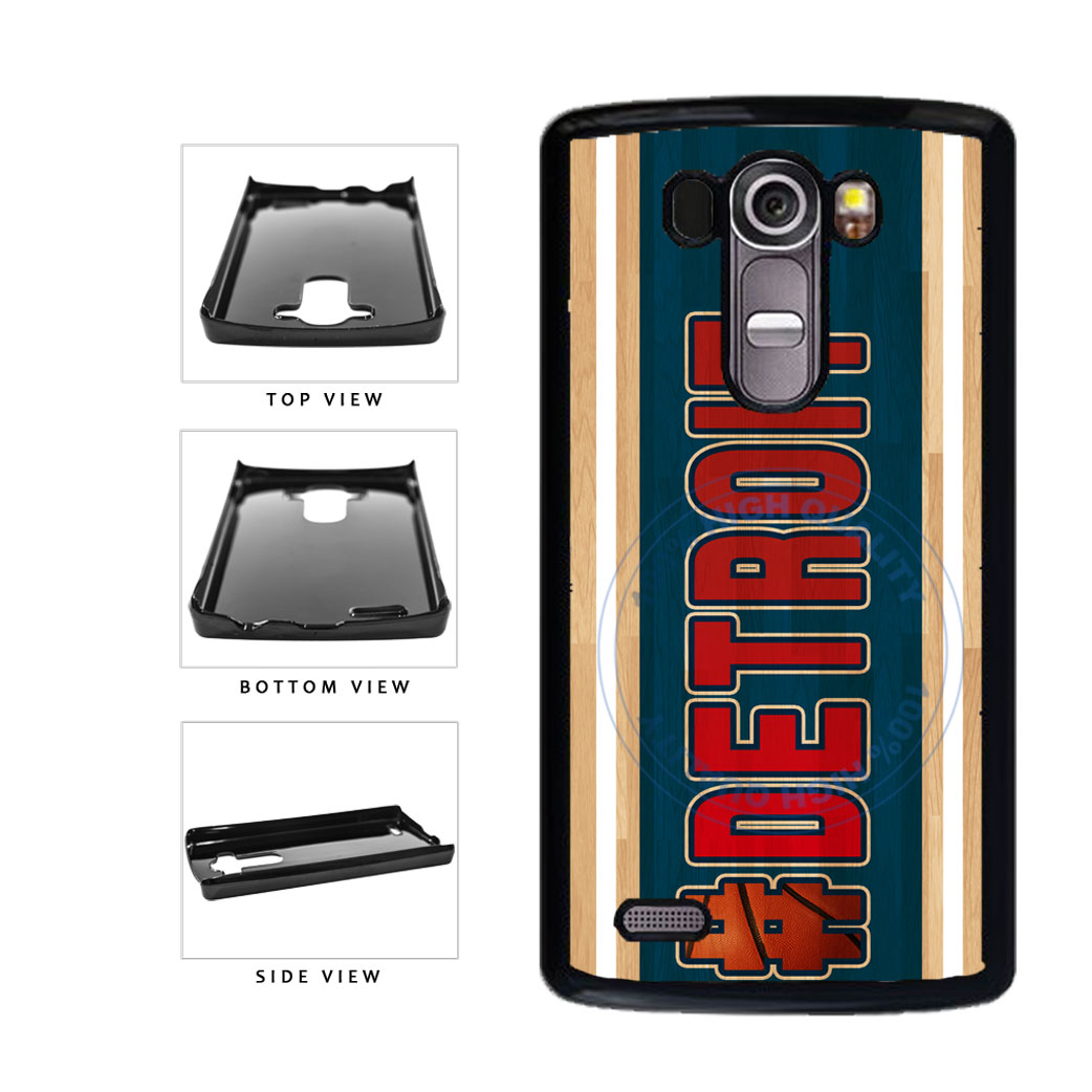 Basketball Team Hashtag Detroit #Detroit Plastic Phone Case Back Cover For LG G4 H815 includes BleuReign(TM) Cloth and Warranty Label