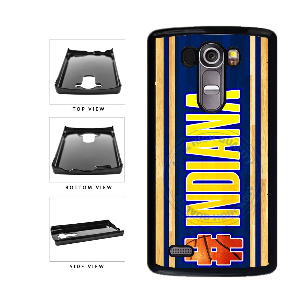 Basketball Team Hashtag Indiana #Indiana Plastic Phone Case Back Cover For LG G4 H815 includes BleuReign(TM) Cloth and Warranty Label