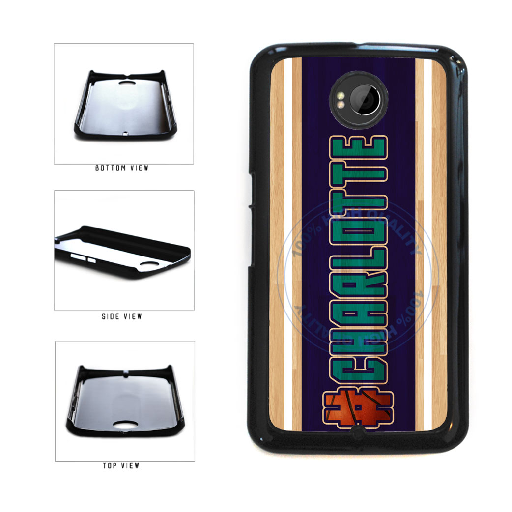 Basketball Team Hashtag Charlotte #Charlotte Plastic Phone Case Back Cover For Google Nexus 6 includes BleuReign(TM) Cloth and Warranty Label
