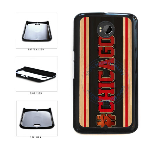 Basketball Team Hashtag Chicago #Chicago Plastic Phone Case Back Cover For Google Nexus 6 includes BleuReign(TM) Cloth and Warranty Label