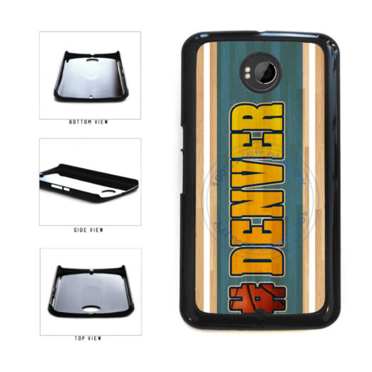 Basketball Team Hashtag Denver #Denver Plastic Phone Case Back Cover For Google Nexus 6 includes BleuReign(TM) Cloth and Warranty Label