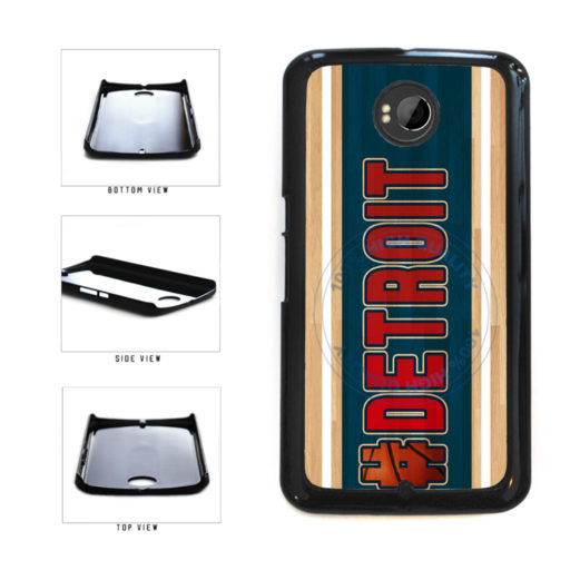 Basketball Team Hashtag Detroit #Detroit Plastic Phone Case Back Cover For Google Nexus 6 includes BleuReign(TM) Cloth and Warranty Label