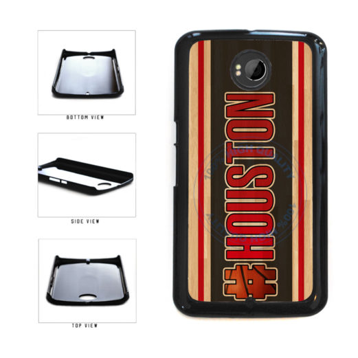 Basketball Team Hashtag Houston #Houston Plastic Phone Case Back Cover For Google Nexus 6 includes BleuReign(TM) Cloth and Warranty Label