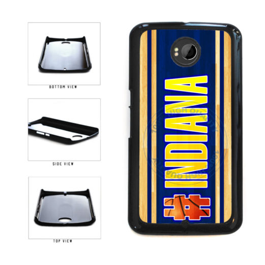 Basketball Team Hashtag Indiana #Indiana Plastic Phone Case Back Cover For Google Nexus 6 includes BleuReign(TM) Cloth and Warranty Label