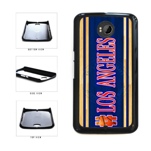 Basketball Team Hashtag Los Angeles #LosAngeles Plastic Phone Case Back Cover For Google Nexus 6 includes BleuReign(TM) Cloth and Warranty Label