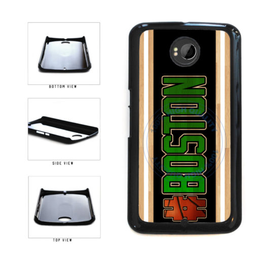 Basketball Team Hashtag Boston #Boston Plastic Phone Case Back Cover For Google Nexus 6 includes BleuReign(TM) Cloth and Warranty Label