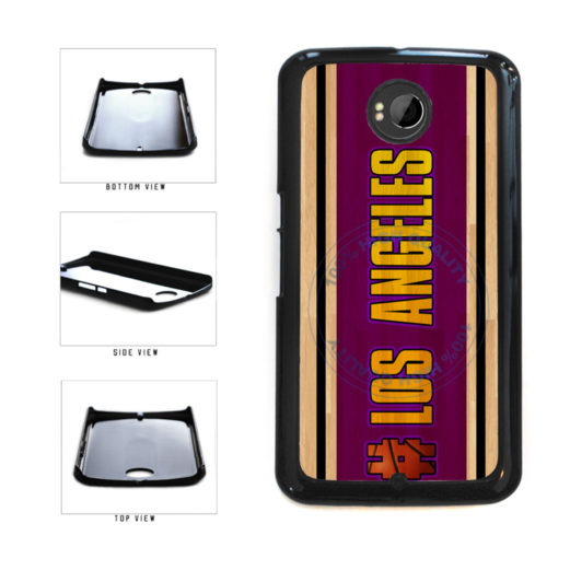 Basketball Team Hashtag Los Angeles Purple and Gold #LosAngeles Purple and Gold Plastic Phone Case Back Cover For Google Nexus 6 includes BleuReign(TM) Cloth and Warranty Label