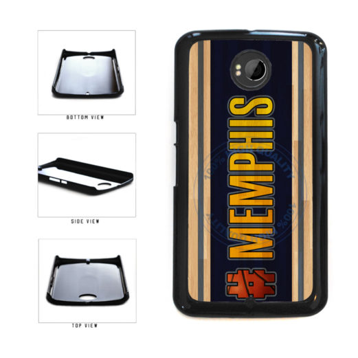 Basketball Team Hashtag Memphis #Memphis Plastic Phone Case Back Cover For Google Nexus 6 includes BleuReign(TM) Cloth and Warranty Label