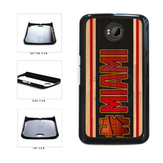 Basketball Team Hashtag Miami #Miami Plastic Phone Case Back Cover For Google Nexus 6 includes BleuReign(TM) Cloth and Warranty Label