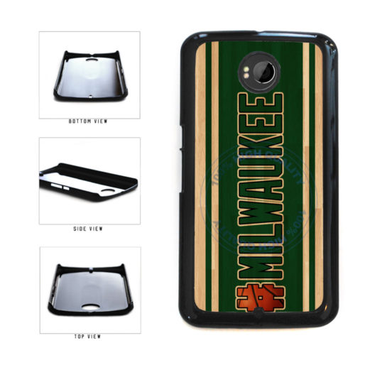 Basketball Team Hashtag Milwaukee #Milwaukee Plastic Phone Case Back Cover For Google Nexus 6 includes BleuReign(TM) Cloth and Warranty Label