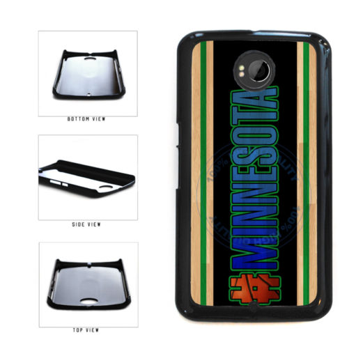 Basketball Team Hashtag Minnesota #Minnesota Plastic Phone Case Back Cover For Google Nexus 6 includes BleuReign(TM) Cloth and Warranty Label