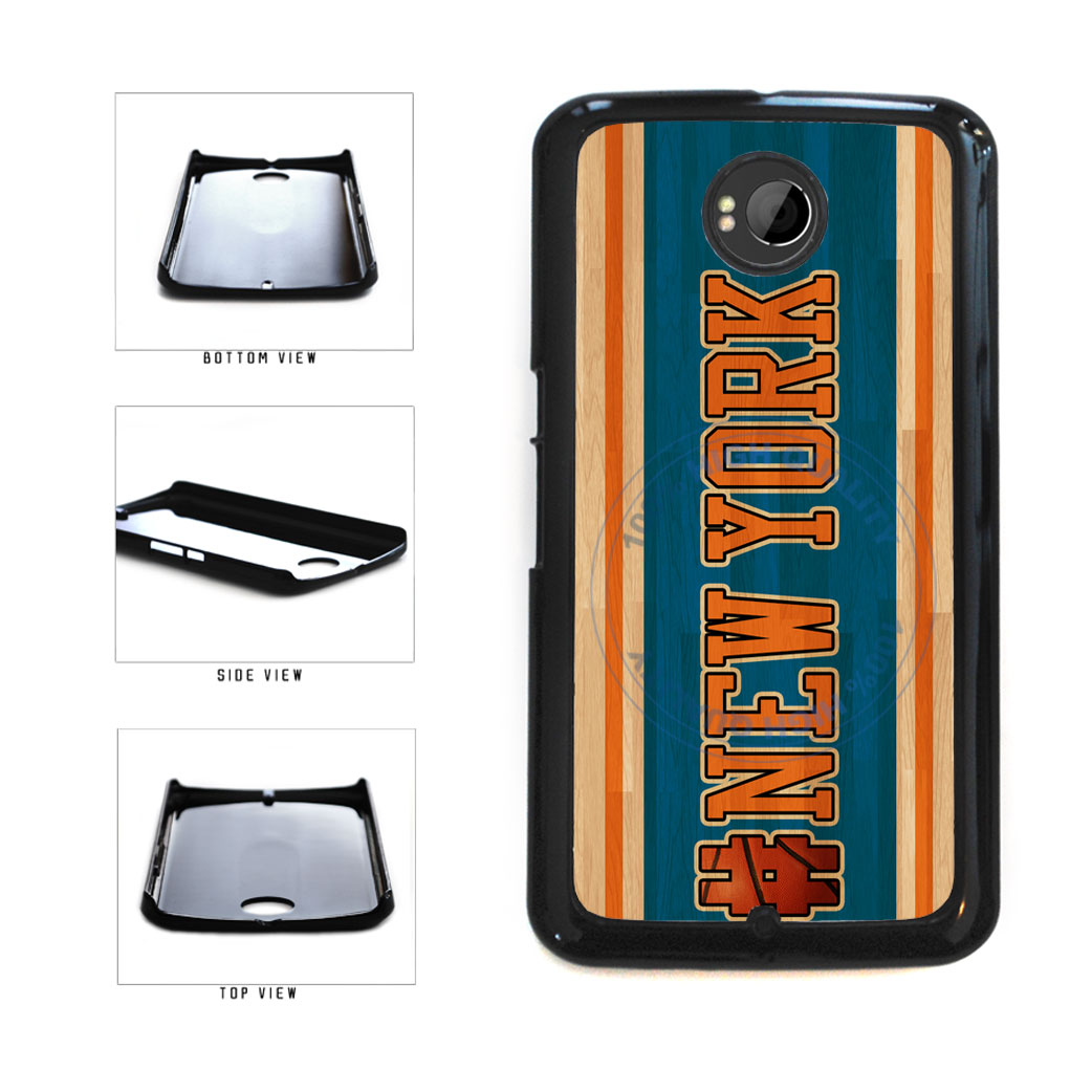 Basketball Team Hashtag New York #NewYork Plastic Phone Case Back Cover For Google Nexus 6 includes BleuReign(TM) Cloth and Warranty Label
