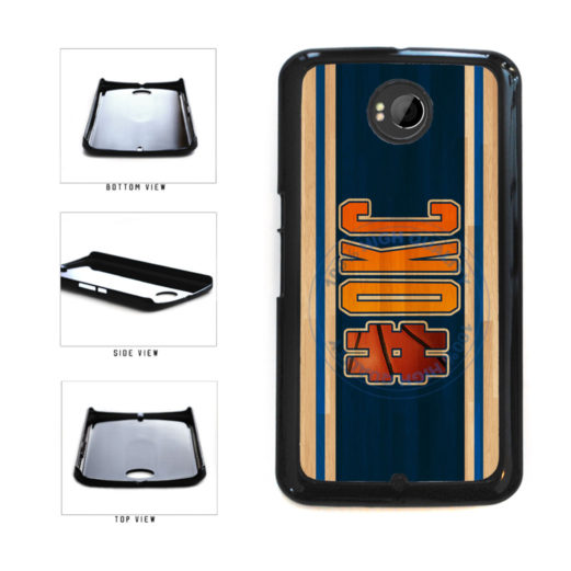 Basketball Team Hashtag Oklahoma City #OKC Plastic Phone Case Back Cover For Google Nexus 6 includes BleuReign(TM) Cloth and Warranty Label