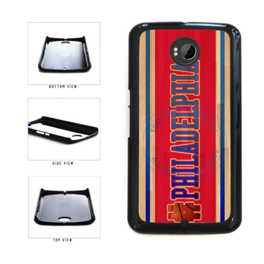 Basketball Team Hashtag Philaldelphia #Philadelphia Plastic Phone Case Back Cover For Google Nexus 6 includes BleuReign(TM) Cloth and Warranty Label
