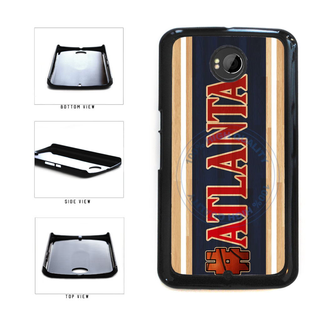 Basketball Team Hashtag Atlanta #Atlanta Plastic Phone Case Back Cover For Google Nexus 6 includes BleuReign(TM) Cloth and Warranty Label