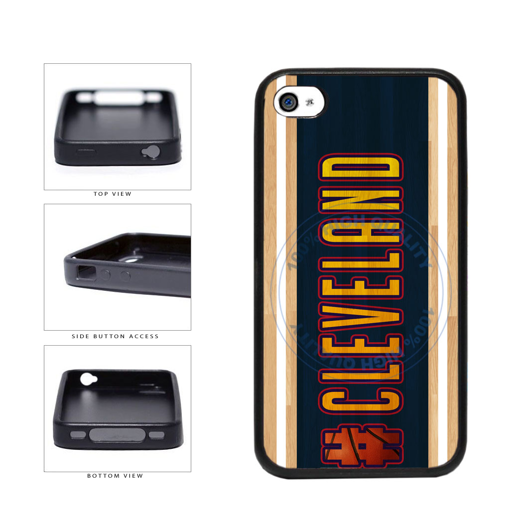 Basketball Team Hashtag Cleveland #Cleveland TPU Rubber SILICONE Phone Case Back Cover For Apple iPhone 4 4S includes BleuReign(TM) Cloth and Warranty Label