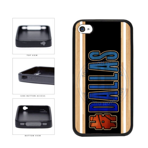 Basketball Team Hashtag Dallas #Dallas TPU Rubber SILICONE Phone Case Back Cover For Apple iPhone 4 4S includes BleuReign(TM) Cloth and Warranty Label