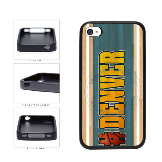 Basketball Team Hashtag Denver #Denver TPU Rubber SILICONE Phone Case Back Cover For Apple iPhone 4 4S includes BleuReign(TM) Cloth and Warranty Label