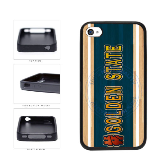 Basketball Team Hashtag Golden State #GoldenState TPU Rubber SILICONE Phone Case Back Cover For Apple iPhone 4 4S includes BleuReign(TM) Cloth and Warranty Label