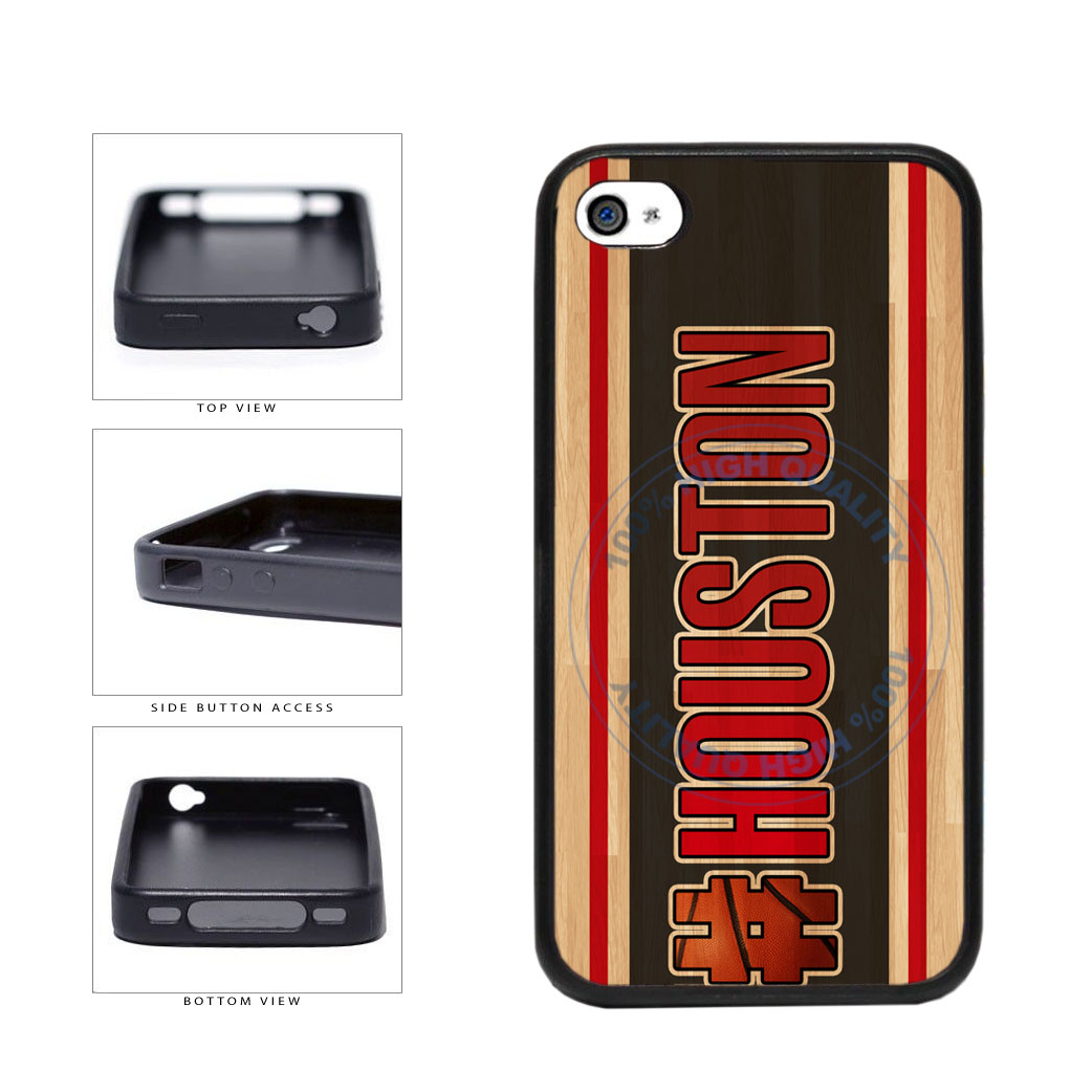 Basketball Team Hashtag Houston #Houston TPU Rubber SILICONE Phone Case Back Cover For Apple iPhone 4 4S includes BleuReign(TM) Cloth and Warranty Label