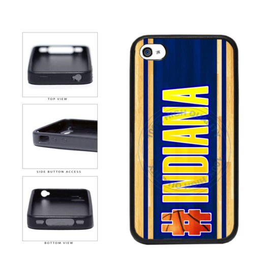 Basketball Team Hashtag Indiana #Indiana TPU Rubber SILICONE Phone Case Back Cover For Apple iPhone 4 4S includes BleuReign(TM) Cloth and Warranty Label
