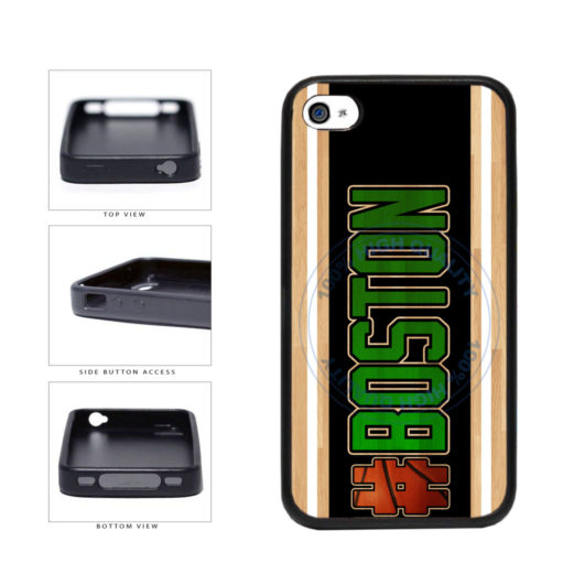 Basketball Team Hashtag Boston #Boston TPU Rubber SILICONE Phone Case Back Cover For Apple iPhone 4 4S includes BleuReign(TM) Cloth and Warranty Label