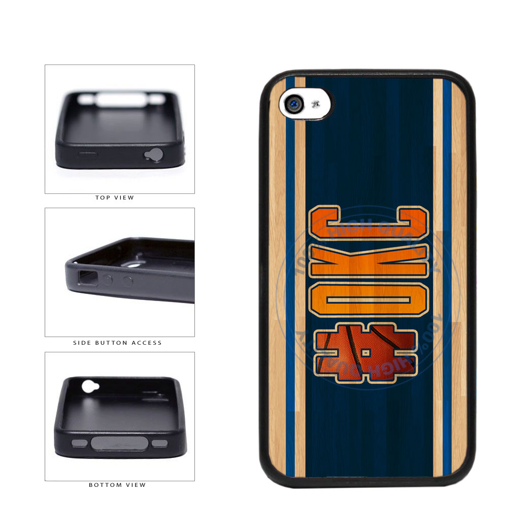 Basketball Team Hashtag Oklahoma City #OKC TPU Rubber SILICONE Phone Case Back Cover For Apple iPhone 4 4S includes BleuReign(TM) Cloth and Warranty Label
