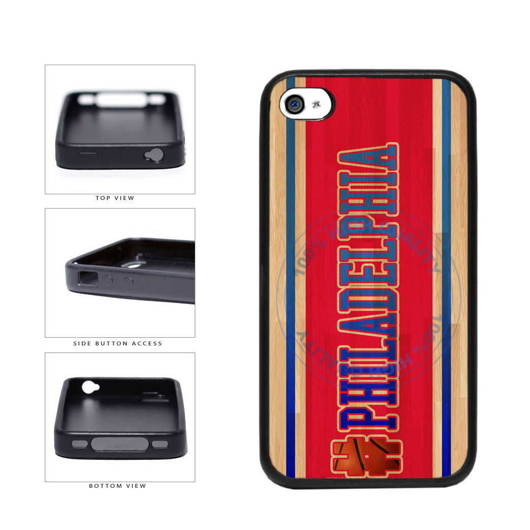 Basketball Team Hashtag Philaldelphia #Philadelphia TPU Rubber SILICONE Phone Case Back Cover For Apple iPhone 4 4S includes BleuReign(TM) Cloth and Warranty Label