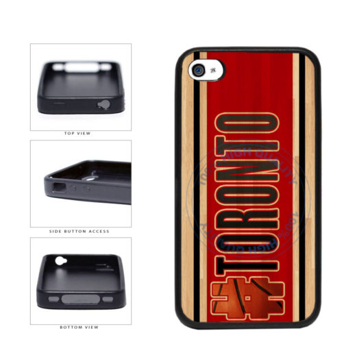 Basketball Team Hashtag Toronto #Toronto TPU Rubber SILICONE Phone Case Back Cover For Apple iPhone 4 4S includes BleuReign(TM) Cloth and Warranty Label