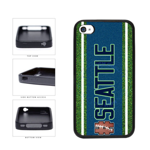 Hashtag Seattle #Seattle Football Team TPU Rubber SILICONE Phone Case Back Cover For Apple iPhone 4 4S includes BleuReign(TM) Cloth and Warranty Label