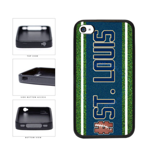 Hashtag St. Louis #StLouis Football Team TPU Rubber SILICONE Phone Case Back Cover For Apple iPhone 4 4S includes BleuReign(TM) Cloth and Warranty Label