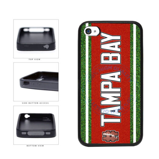 Hashtag Tampa Bay #TampaBay Football Team TPU Rubber SILICONE Phone Case Back Cover For Apple iPhone 4 4S includes BleuReign(TM) Cloth and Warranty Label