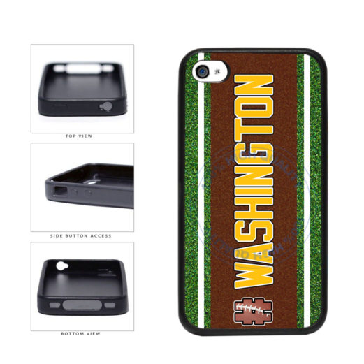 Hashtag Washington #Washington Football Team TPU Rubber SILICONE Phone Case Back Cover For Apple iPhone 4 4S includes BleuReign(TM) Cloth and Warranty Label