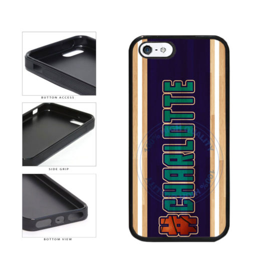 Basketball Team Hashtag Charlotte #Charlotte TPU Rubber SILICONE Phone Case Back Cover For Apple iPhone 5 5S includes BleuReign(TM) Cloth and Warranty Label