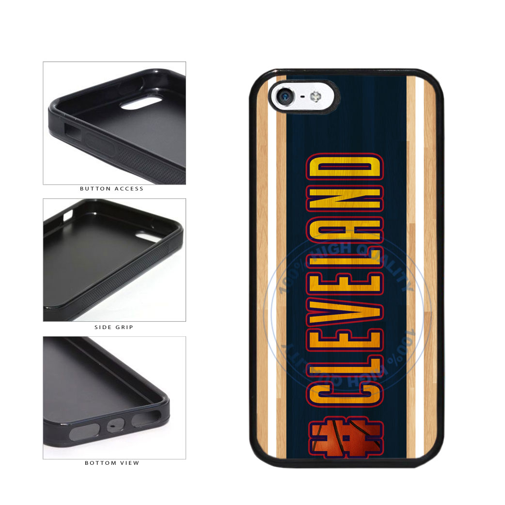 Basketball Team Hashtag Cleveland #Cleveland TPU Rubber SILICONE Phone Case Back Cover For Apple iPhone 5 5S includes BleuReign(TM) Cloth and Warranty Label