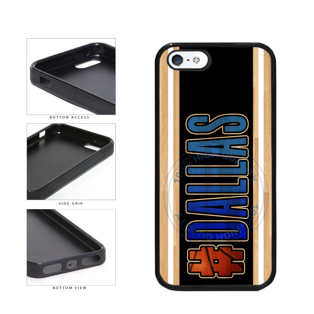 Basketball Team Hashtag Dallas #Dallas TPU Rubber SILICONE Phone Case Back Cover For Apple iPhone 5 5S includes BleuReign(TM) Cloth and Warranty Label