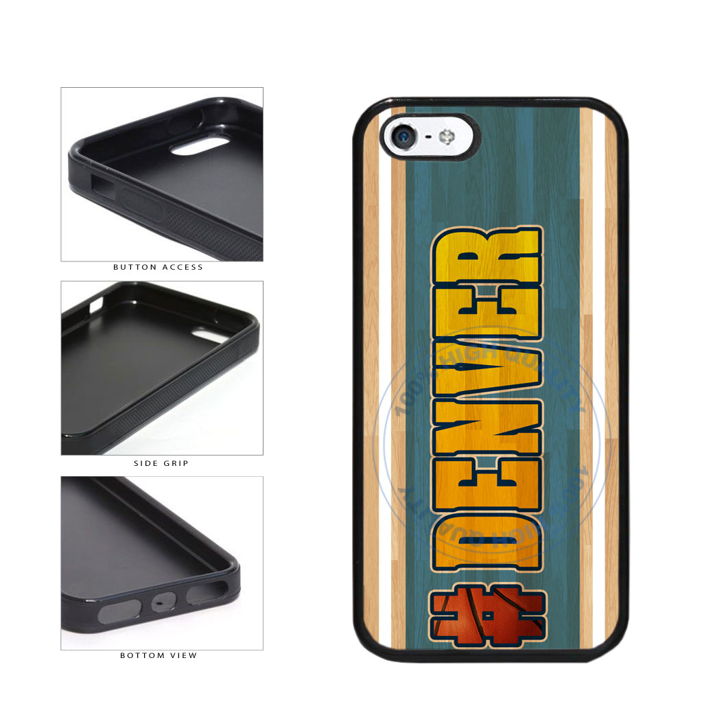 Basketball Team Hashtag Denver #Denver TPU Rubber SILICONE Phone Case Back Cover For Apple iPhone 5 5S includes BleuReign(TM) Cloth and Warranty Label
