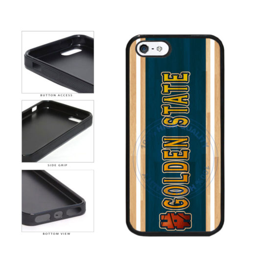 Basketball Team Hashtag Golden State #GoldenState TPU Rubber SILICONE Phone Case Back Cover For Apple iPhone 5 5S includes BleuReign(TM) Cloth and Warranty Label