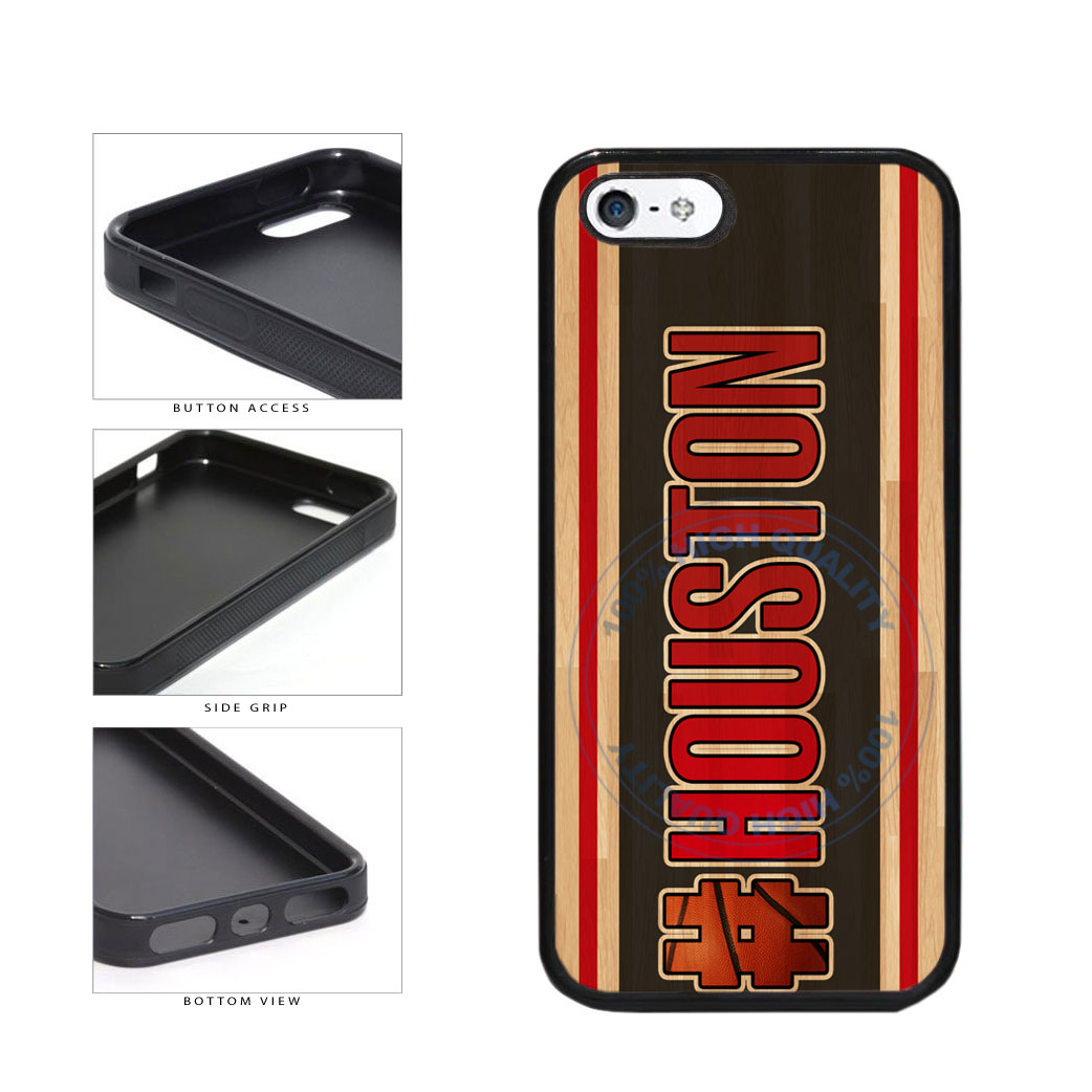 Basketball Team Hashtag Houston #Houston TPU Rubber SILICONE Phone Case Back Cover For Apple iPhone 5 5S includes BleuReign(TM) Cloth and Warranty Label