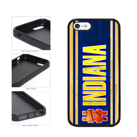 Basketball Team Hashtag Indiana #Indiana TPU Rubber SILICONE Phone Case Back Cover For Apple iPhone 5 5S includes BleuReign(TM) Cloth and Warranty Label