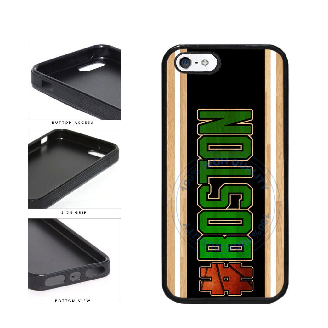 Basketball Team Hashtag Boston #Boston TPU Rubber SILICONE Phone Case Back Cover For Apple iPhone 5 5S includes BleuReign(TM) Cloth and Warranty Label