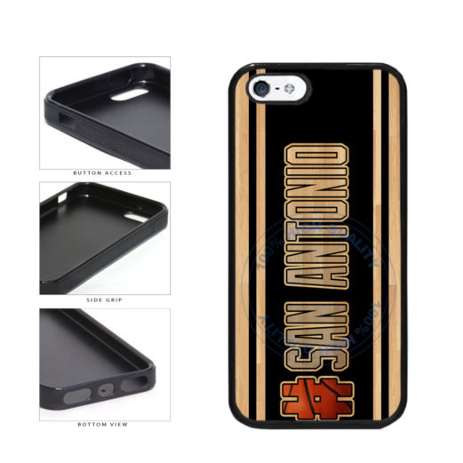 Basketball Team Hashtag San Antonio #SanAntonio TPU Rubber SILICONE Phone Case Back Cover For Apple iPhone 5 5S includes BleuReign(TM) Cloth and Warranty Label