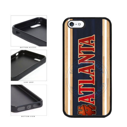 Basketball Team Hashtag Atlanta #Atlanta TPU Rubber SILICONE Phone Case Back Cover For Apple iPhone 5 5S includes BleuReign(TM) Cloth and Warranty Label