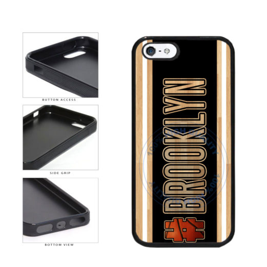Basketball Team Hashtag Brooklyn #Brooklyn TPU Rubber SILICONE Phone Case Back Cover For Apple iPhone 5 5S includes BleuReign(TM) Cloth and Warranty Label