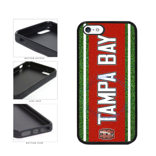 Hashtag Tampa Bay #TampaBay Football Team TPU Rubber SILICONE Phone Case Back Cover For Apple iPhone 5 5S includes BleuReign(TM) Cloth and Warranty Label