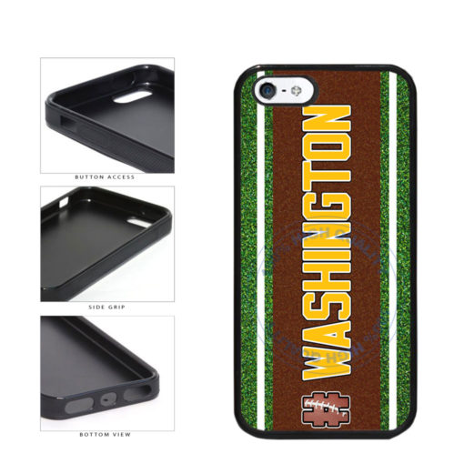 Hashtag Washington #Washington Football Team TPU Rubber SILICONE Phone Case Back Cover For Apple iPhone 5 5S includes BleuReign(TM) Cloth and Warranty Label